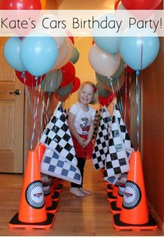 Make your next race car themed party a hit with these FREE Cars Birthday Party Printables! PDFs and images of additional decoration ideas included. Race Car Birthday, Race Car Party, Third Birthday, Happy Birthday, Birthday Bash, Car Themed Parties, Cars Birthday Parties, Birthday Party Decorations, Birthday Ideas