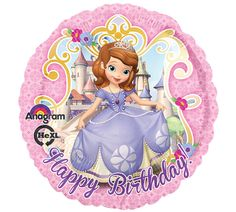 Do you know a little girl who loves Sophia the First?  She would love this balloon on her birthday!  #sophia #balloons #birthday #princess