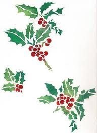 holly stencil design