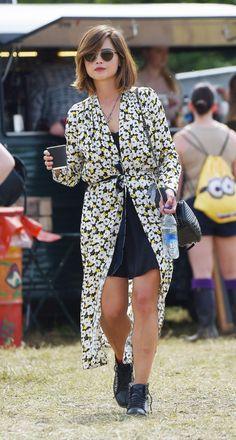 Jenna Louise Coleman at the Glastonbury Festival, England (2015)