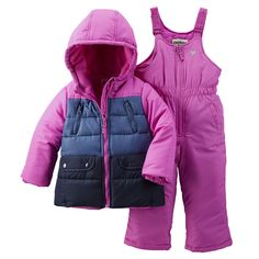 Kid Girl OshKosh 2-Piece Colorblock Snowsuit | Carters.com