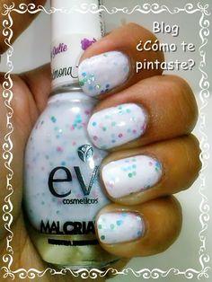 Anémona de EV (Colección by Julie) #jellysandwich #swatches #nails #uñas #comotepintaste #esmaltes #polish #white #blanco #esenciavital #ev #33dc