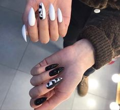 Cow Nails, Aycrlic Nails, Swag Nails, Hair And Nails, Acrylic Nail Tips, Long Acrylic Nails, Subtle Nails, Grunge Nails, Fire Nails