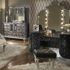 old hollywood vanity with lights | old hollywood vanity with lights - Bing Images | For the Home