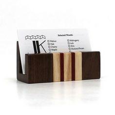 Image of desk business card holder for multiple cards woodworking walnut business card holder reheart Gallery
