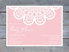 DOILY Baby Shower Printable Invitation by Sweet Scarlet Designs