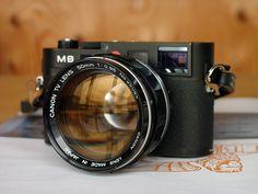 Leica M8 + Canon TV Lens 50mm 1: 0.95