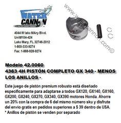 Modelo 42.0060-Piston -GX160-GX200-GX240-GX270-GX340