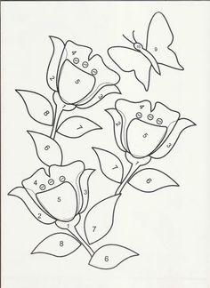 molde de tulipas para patchwork e patchaplique