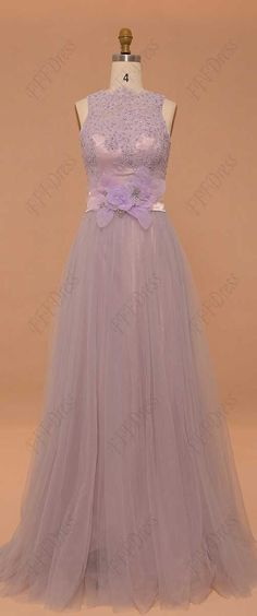 Dusty lavender bridesmaid dresses modest bridesmaid gown evening dresses formal dress beaded prom dresses