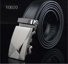 Mens Leather Belt High Grade Metal Buckle Belt Leisure Belt
