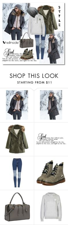 """""""Shein 5"""" by aida-1999 ❤ liked on Polyvore featuring WithChic, adidas, vintage, women's clothing, women, female, woman, misses and juniors"""