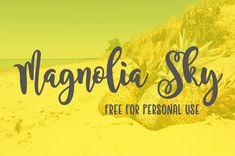 talking about lovable fonts, magnolia sky has a special plac.ttp://www.fr/fonts/magnolia-sky/ and get it! Magnolia Font, Magnolia Sky, Graphic Design Fonts, Cricut Fonts, Silhouette Cameo Projects, Silhouette Fonts, Free Graphics, Good Jokes, Clip Art