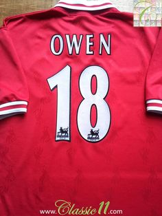 2aaccdcf693 Relive Michael Owen s 1996 1997 Premier League season with this vintage  Reebok Liverpool home football