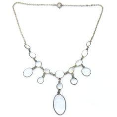 Antique Edwardian Moonstone Swag Festoon Drop Necklace | Clarice Jewellery