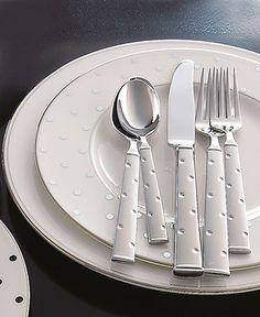 kate spade new york Larabee Dot 3-Piece Serving Set - Flatware & Silverware - Dining & Entertaining - Macys Bridal and Wedding Registry #macysdreamfund
