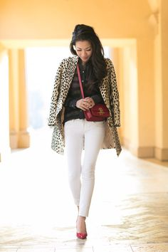 Leopard and Stripes :: Linen coat