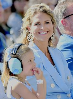 Princess Madeleine and Princess Leonore attend Childhood Day at Gröna Lund on May 27,2018 in Stockholm, Sweden.