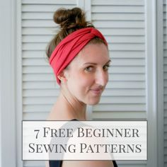 7 Free Sewing Patterns for Beginners . Sewing 101 by Lindsay at Shrimp Salad Circus