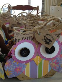 Owl themed party bags.