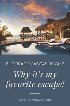 Here's why El Dorado Casitas Royale is my favorite resort for adults. This romantic honeymoon resort is perfect for couples looking for a luxurious vacation. Usa Cities, Romantic Honeymoon, Unique Hotels, Cheap Tickets, Plunge Pool, Group Travel, Beautiful Places In The World, Honeymoon Destinations, How To Level Ground
