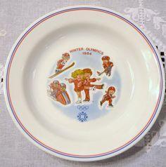 Vintage Campbell Kids Soup Bowl Sarajevo Olympics 1984 Corelle PanchosPorch