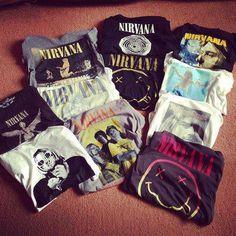 Nirvana tees.