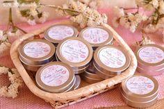 Detalles para bodas romanticas vintage, bálsamos de karité. Consultas y encargos: eljaboncasero@gmail.com