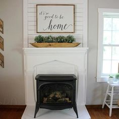 As if I couldn't love my mantel anymore.this sign by my sweet friend Jess Ho. - As if I couldn't love my mantel anymore….this sign by my sweet friend Jess House On is pe - My Living Room, Home And Living, Living Room Mantle, Bedroom Fireplace, Faux Fireplace, Fireplaces, Faux Mantle, Mantle Art, White Mantle