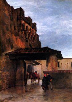 Odoardo Borrani, Antica Porta Ognissanti, olio su tela,  100 x 70  cm