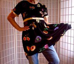 3  Femine Mini Dress Lolita Jeans Topper Women's Teen by ArtzWear