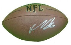 Vernon Davis Autographed NFL Wilson Composite Football, San Francisco 49ers, Maryland Terrapins, Proof Photo by Southwestconnection-Memorabilia. $149.99. This is a Vernon Davis autographed NFL Wilson composite football. Vernon has signed the football in silver paint pen for us. Check out the photo of Vernon signing for us. Proof photo is included for free with purchase. Please click on images to enlarge. 2