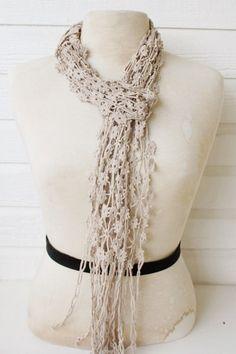 5in skinny scarf