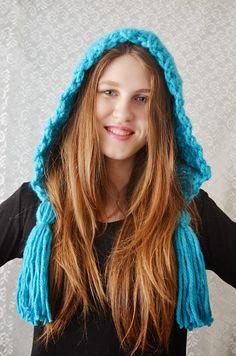 Caciula tricotata -crosetata Turquoise Love (78 LEI la irinaindira.breslo.ro)