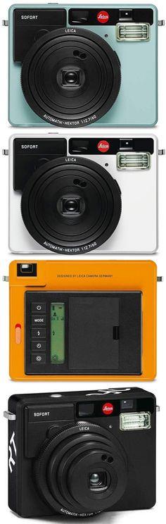 Leica Sofort Instant Camera    #leica #film #instant #camera #polaroid Cheap Film Cameras, Nikon Film Camera, Kodak Film, Shoot Film, Camera Hacks, Instant Camera, Leica, Fujifilm, Polaroid