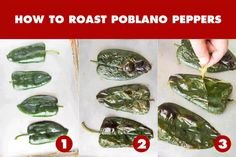 How to Roast Poblano Peppers - Chili Pepper Madness Poblano Cream Sauce, Poblano Soup, Roasted Poblano Peppers, Stuffed Poblano Peppers, Sauce Chili, Beef Chili Recipe, Fish Recipe Low Carb, Sausage Stuffed Jalapenos, White Bean Chicken Chili
