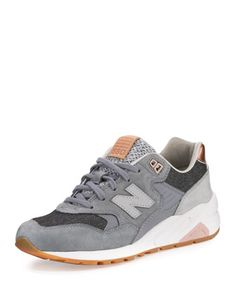 580+Suede+Low-Top+Sneaker,+Gray+by+New+Balance+at+Neiman+Marcus.