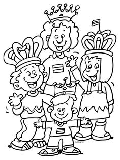 King's Day To the parade! Kings Day, Love Painting, Paint Colors, Coloring Pages, Preschool, Stockings, Drawings, 27 April, North Pole