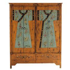 Marvelous Der Schrank Kimono ist ein Holzkleiderschrank in japanischem Stil Ein handbemaltes M belst ck mit raffinierten und eleganten Blumenmustern