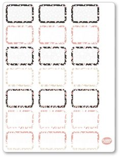 XOXO Half Boxes Planner Stickers Diary Planner, Free Planner, Happy Planner, Planner Sheets, Custom Planner, Pocket Letters, Printable Planner Stickers, Filofax