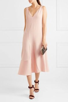 Blush stretch-cady and sateen Concealed hook and zip fastening at back Fabric1: 64% viscose, 32% acetate, 4% elastane; fabric2: 47% cotton, 42% polyester, 11% silk Dry clean Imported