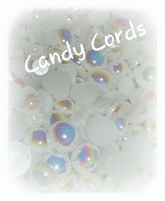 Flat Back AB Mixed Size Pearls - Mixed pack sizes 3mm-8mm Cards Deco Den 400