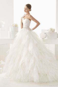rosa clara wedding dresses 2014 bridal castila strapless ball gown