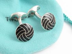 TIFFANY & CO.  Black Enamel Swirl And 925 by STUNNINGCOLLECTIBLES