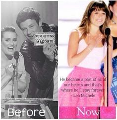 I seriously admire her strength! Love you Lea & my condolances go out to her family, Cory's family and everyone who knew him personally! Xx