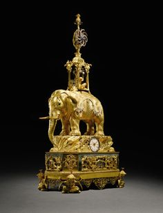 The Shah of Persia's Elephant Automaton Clock – George III paste-set ormolu musical automaton clock, ca 1780