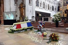 General view at a memorial service for the deceased actor Pierre Brice (1929 - 2015) at Saint Michael church on June 18, 2015 in Munich, Germany. Pierre Brice died of pneumonia on June 6th in a Paris hospital.