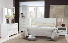 Action White Master Bedroom Set