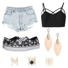 """""""Untitled #85"""" by purplepizza on Polyvore featuring Vans and Charlotte Russe"""