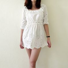 white lace dress new look